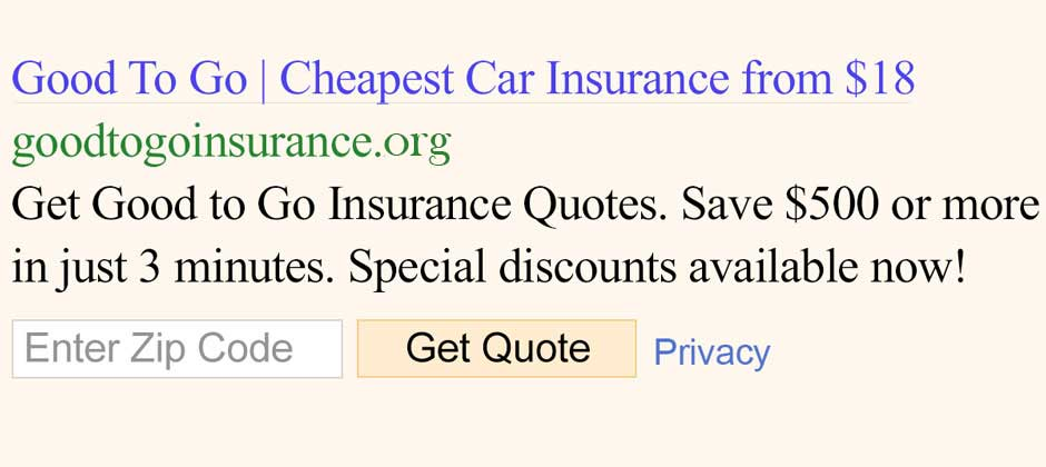 Good To Go Insurance l Auto Insurance from $18 month now