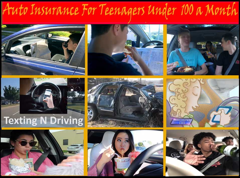 Auto insurance for teenagers under $100 a month